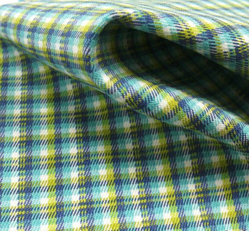 Stretch Plaid D#8000 Jade/Blue