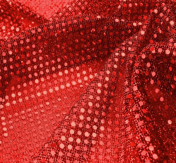 3MM Sequins on A/Knit Solid Red