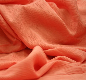 Rayon Crinkle Peach