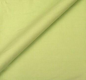 Stretch Cotton Poplin Gingham Green/White
