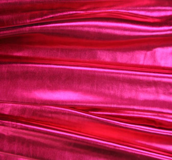 Spandex w/All Over Foil Solid Fuschia