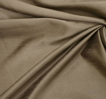 Oscar Shantung Solid Taupe Width 58/60""