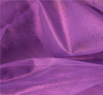 Mesh With All Over Foil Solid Purple/Purple Width 58/60""
