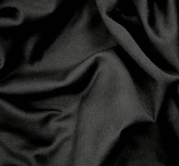 Fleece One Side Brushed Solid Black