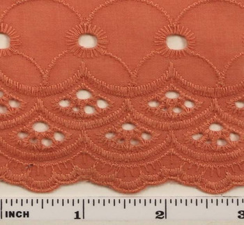 """Eyelet Embroidery Coral 5K004 Width 41/42"""""""