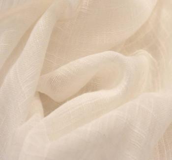 "Cotton Rayon Slub Ivory Width 55/56"""