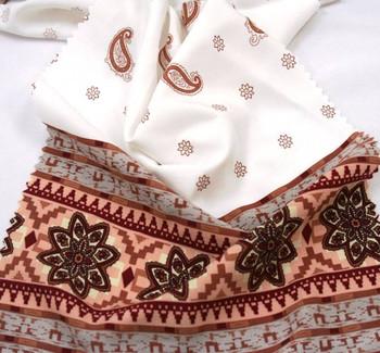 Rayon Poplin 1D647 Ivory Khaki