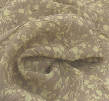 Chiffon Crinkle Print D#849-13132 Taupe/Yellow