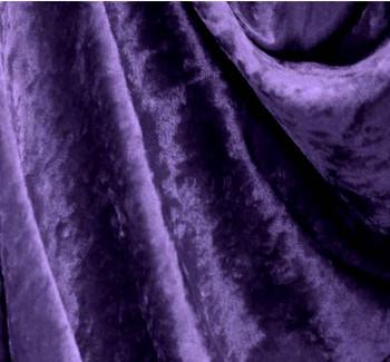 Crushed Panne Velour Deep Purple
