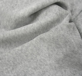 CVC Velour Solid Heather Gray