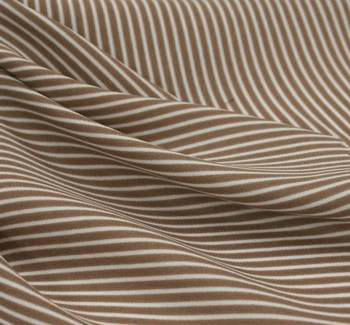 Wool Peach Stripe 1D1013 Taupe/Ivory