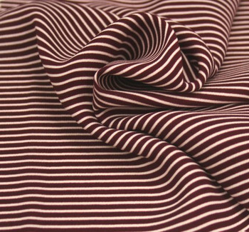 Wool Peach Stripe 1D1013 Burgundy/Ivory