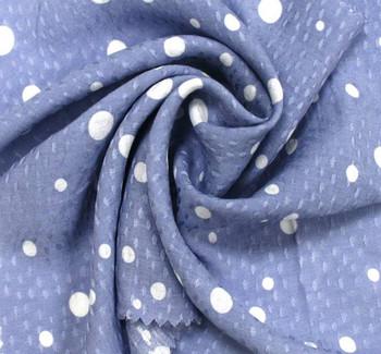 Rayon Jacquard Dobby Dot 1D910 Blue
