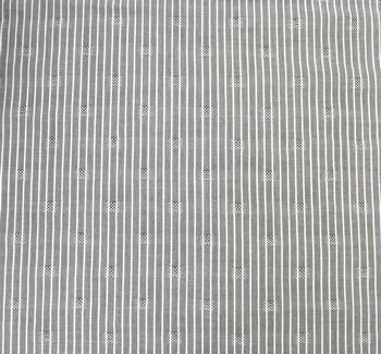 Rayon Dobby Pin Stripe 1D1034 Gray/Ivory