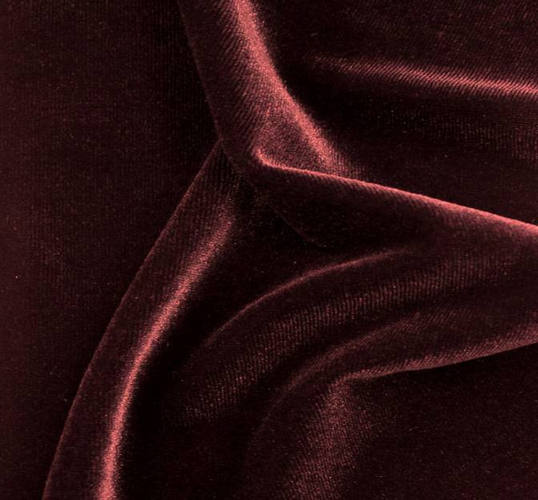 Stretch Velvet Solid Burgundy