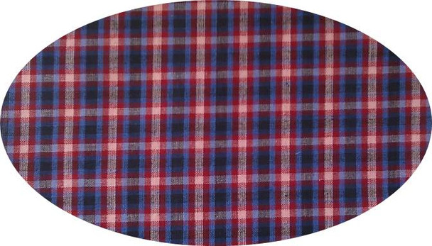 """Cotton Yarn Dyed Brushed or Flat Blue/Black/Red  Width 40/42"""""""