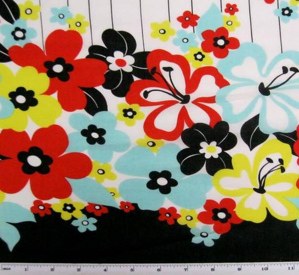 Cotton Lawn Print Red Print 7M355