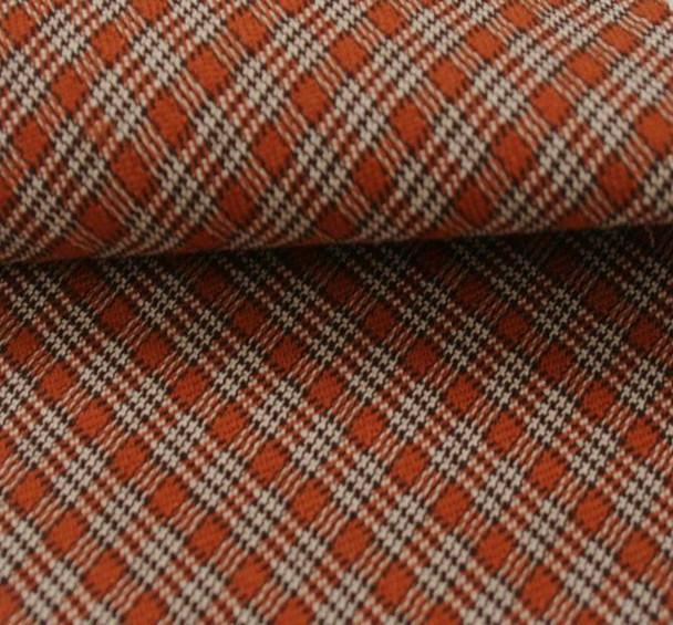 Stretch Plaid Orange/Brown