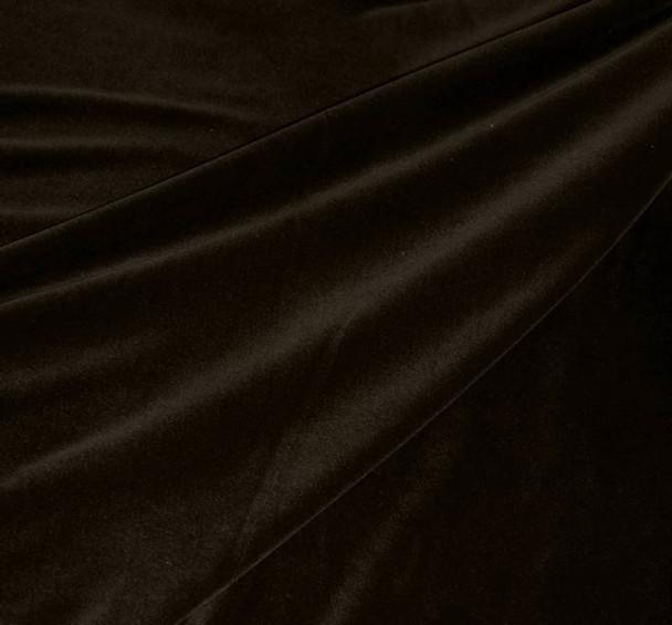 """Steam Velour Dark Brown Width 58/60"""""""