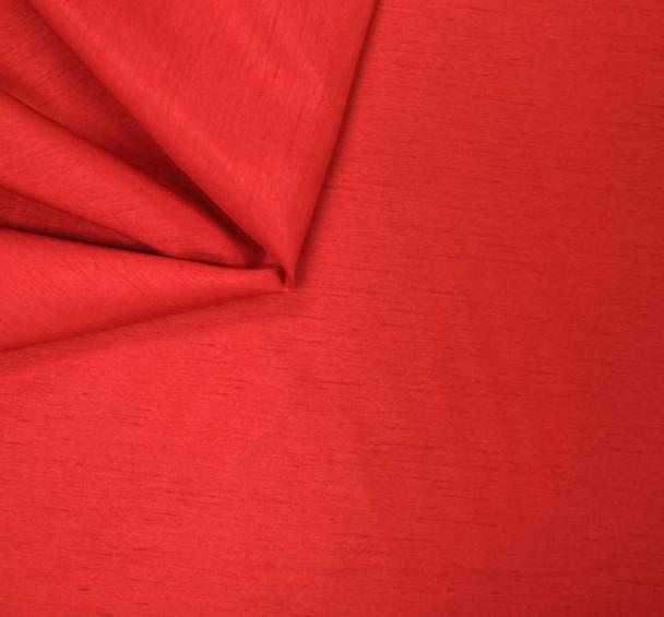 """Shantung Slub Solid Red  Width 58/60"""""""