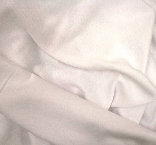 Fleece One Side Brushed Solid White