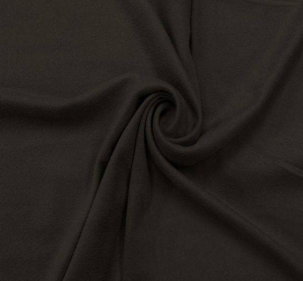"Suede Knit Solid Black Width 58/60"""