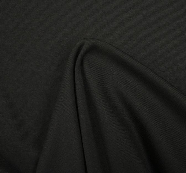 Fleece Rib Solid Black