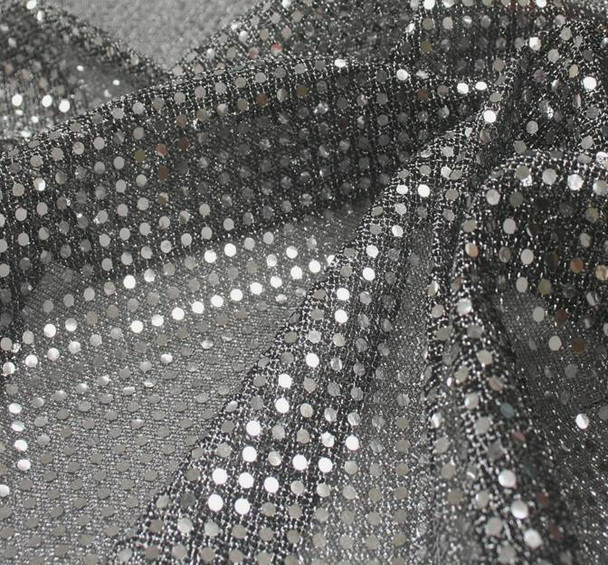 3MM Sequins on A/Knit Black/Silve