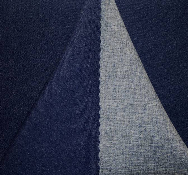 Crepe Two Side Navy/Blue Width  58/60""