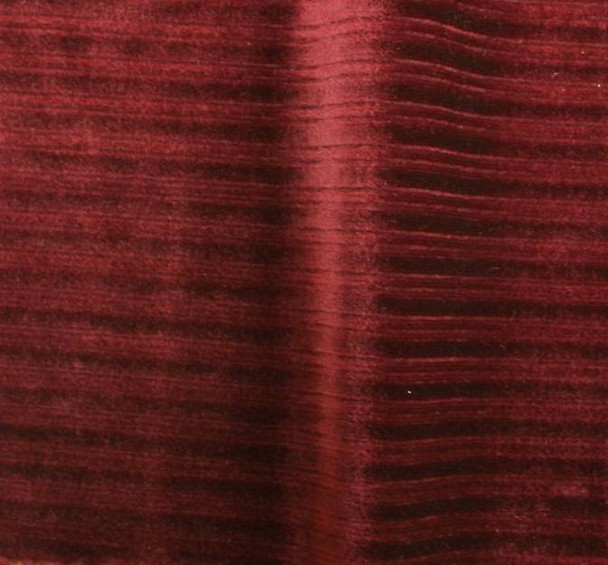 Steam Velour Drop Needle 8x3 Burgundy Width 58/60""