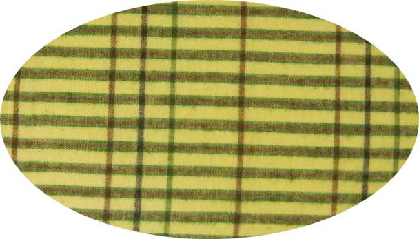 """Cotton Yarn Dyed Brushed or Flat Lime/Green/Brown  Width 40/42"""""""