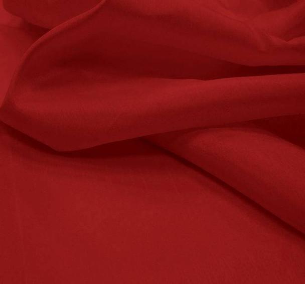 """Shantung Slub Solid Dark Red Width 58/60"""""""