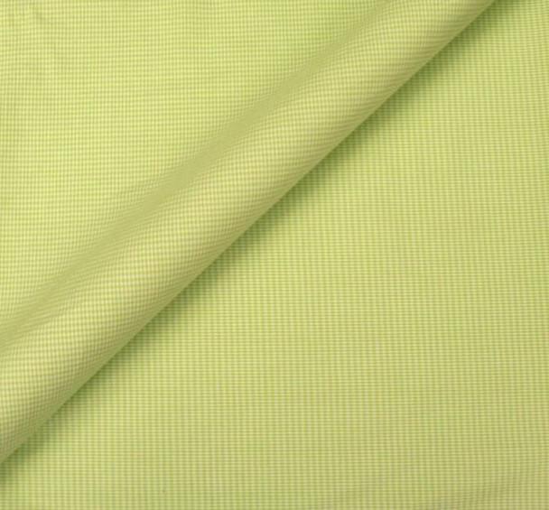 Stretch Cotton Poplin Gingham Green/White