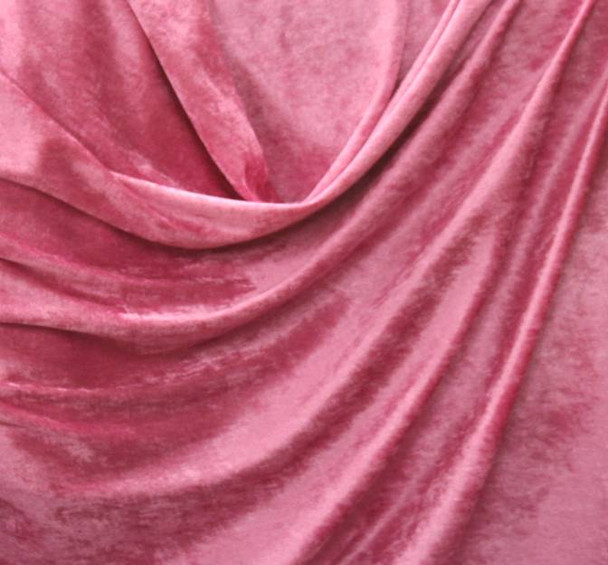 Crushed Panne Velour Hot Pink