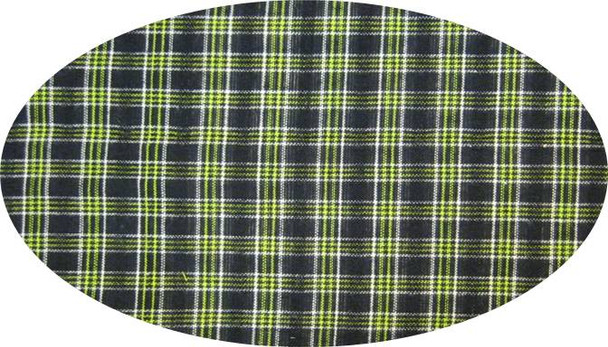 """Cotton Yarn Dyed Brushed or Flat Black/Green  Width 40/42"""""""