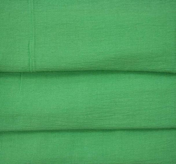 Cotton Gauze Kelly Green