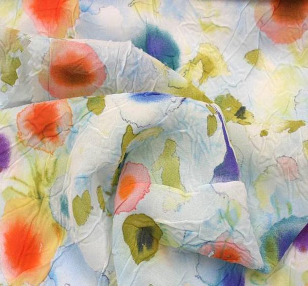 Chiffon Crinkle Print D#849-13150 Color 001