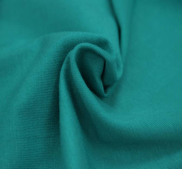 Jersey Cotton Spandex Solid Green