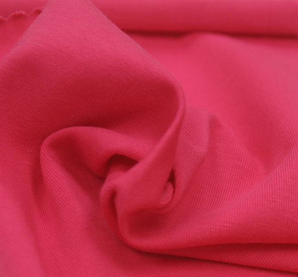 Jersey Cotton Spandex Solid Hot Pink
