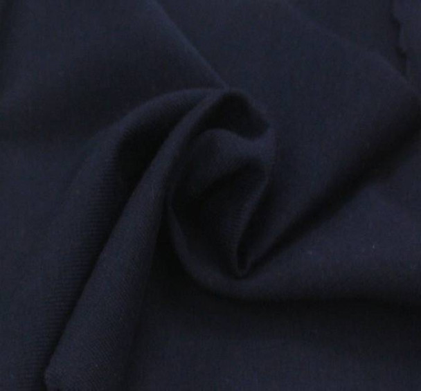 Jersey Cotton Spandex Solid Navy
