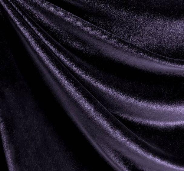 Stretch Velvet Solid Purple