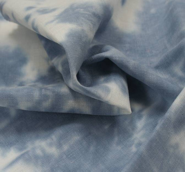 Linen Rayon Tie Dyed Blue