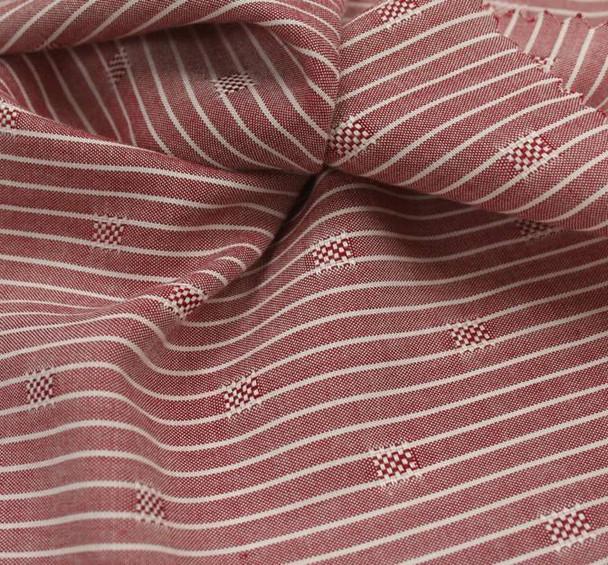 Rayon Dobby Pin Stripe 1D1034 Mauve