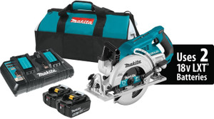 "Makita XSR01PT 18V x2 LXT Lithium-Ion (36V) Brushless Cordless Rear Handle 7-1/4"" Circular Saw Kit (5.0Ah) NEW"