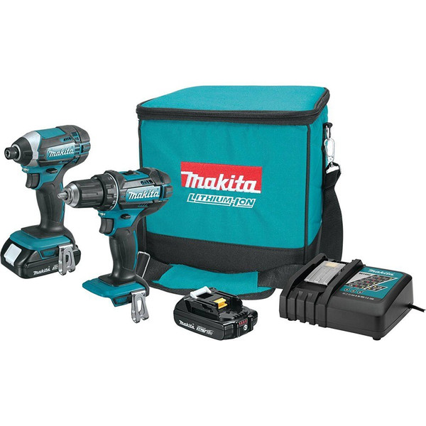 MAKITA ct225r lithium-ion drill/driver & impact driver combo 18v Factory Reconditioned