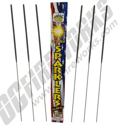 #14 Golden Electric Sparklers 6pk