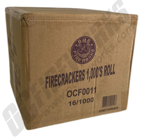 Wholesale Fireworks OMG Crackers 1000 Roll Case 16/1000
