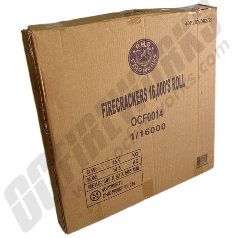 Wholesale Fireworks OMG Crackers 16000 Wheel Case 3/16000