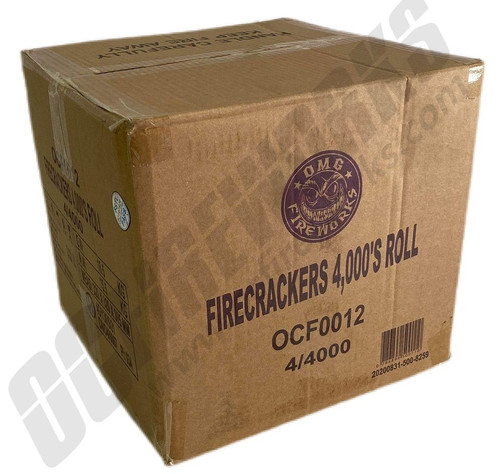 Wholesale Fireworks OMG Crackers 4000 Roll Case 4/4000