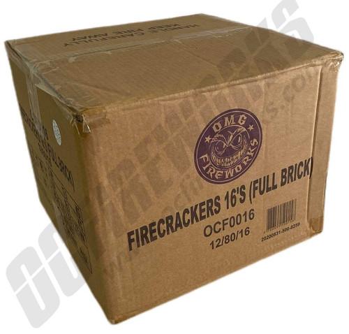 Wholesale Fireworks OMG Crackers Full Brick Case 12/80/16